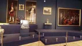 凯瑟琳宫殿的华美的房间和内部在圣彼德堡 向量例证
