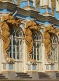 凯瑟琳宫殿的装饰的片段 Tsarskoye Selo 免版税库存图片