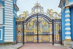 凯瑟琳宫殿的门 免版税库存照片
