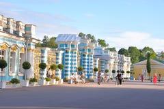 凯瑟琳宫殿篱芭在Tsarskoye Selo 免版税库存图片