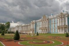 凯瑟琳宫殿, ST 彼得斯堡, TSARSKOYE SELO,俄罗斯 免版税库存照片