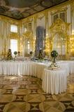 凯瑟琳宫殿-骑士餐厅-廷臣奉承者在出勤餐厅 图库摄影