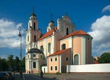 凯瑟琳教会立陶宛修道院破坏st视图维尔纽斯 免版税库存照片