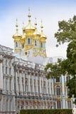 凯瑟琳的宫殿大厅在Tsarskoe Selo (普希金),俄罗斯 免版税库存图片