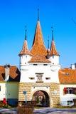 凯瑟琳的门在布拉索夫,罗马尼亚 库存照片