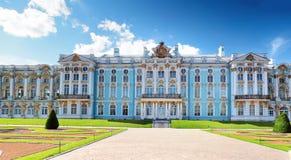 凯瑟琳的Tsarskoe的Selo宫殿大厅 库存图片