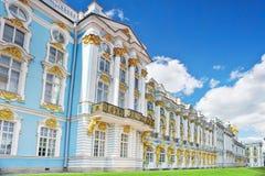 凯瑟琳的Tsarskoe的Selo宫殿大厅 图库摄影