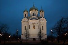 凯瑟琳` s大教堂在Tsarskoe Selo 图库摄影