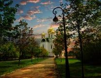 凯瑟琳` s大教堂Tsarskoe Selo 免版税库存图片