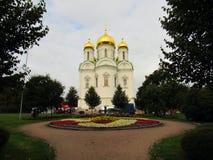 凯瑟琳` s大教堂Tsarskoe Selo 图库摄影