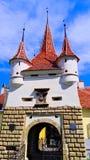 凯瑟琳` s门,布拉索夫,特兰西瓦尼亚,罗马尼亚 免版税图库摄影