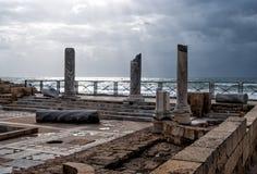 凯瑟里雅以色列公园废墟 免版税库存照片