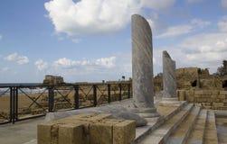 凯瑟里雅以色列端口破坏城镇 免版税图库摄影