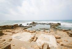 凯瑟里雅古老罗马在以色列 库存照片