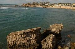 凯瑟里雅地中海在夏天 免版税图库摄影