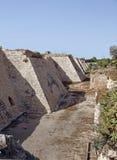 凯瑟里雅maritima废墟 免版税库存照片