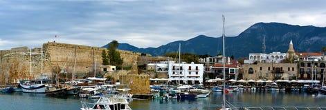 凯里尼亚全景  库存图片