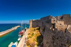 凯里尼亚城堡 塞浦路斯 库存图片