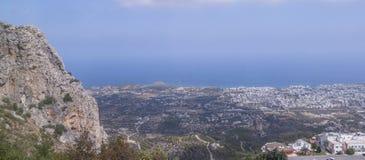 凯里尼亚市在塞浦路斯 库存图片