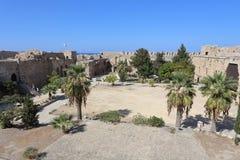凯里尼亚,塞浦路斯- 2016年10月, 14 :凯里尼亚城堡,北部塞浦路斯 库存图片