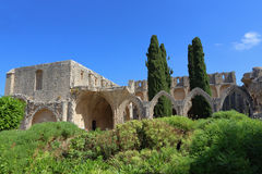 凯里尼亚,塞浦路斯- 2016年10月, 14 :Bellapais修道院修道院在凯里尼亚 北赛普勒斯土耳其共和国 免版税库存图片