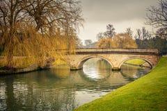 凸轮河,剑桥 库存照片