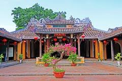 凸轮Pho寺庙会安市,越南联合国科教文组织世界遗产名录 免版税库存图片