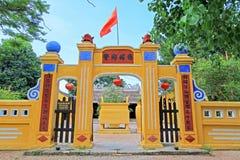 凸轮Pho寺庙会安市,越南联合国科教文组织世界遗产名录 图库摄影