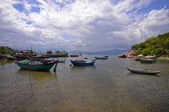 凸轮Ranh海滩, Khanh Hoa,越南- 2016年10月09日 免版税图库摄影