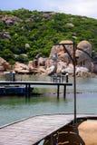 凸轮Ranh海滩, Khanh Hoa,越南- 2016年10月09日 免版税库存图片