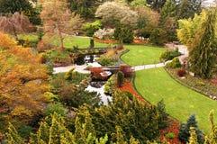 凹下去加拿大的庭院 库存照片
