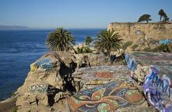 凹下去的城市在圣佩德罗,加利福尼亚 库存照片