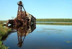 凹下去的清疏的小船 库存照片