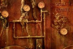 凹下去的船的内部 伊斯坦布尔水族馆 免版税库存图片