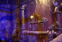 凹下去的船的内部 伊斯坦布尔水族馆 库存图片