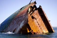 凹下去的船 库存图片