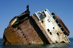 凹下去的船3 库存图片