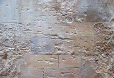 凹凸不平的石墙纹理  免版税库存图片
