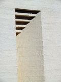 凹进处 涂灰泥的砖 免版税库存照片