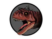 凹道动画片恐龙孩子的食肉牛龙例证 向量例证