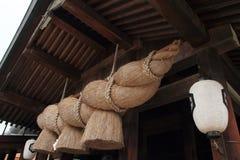 出云Taisha寺庙祷告大厅  免版税图库摄影