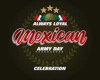出兵日庆祝在墨西哥 库存例证