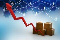出口成长概念 免版税库存照片