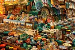 出售界面的义卖市场全部瓷 免版税库存照片