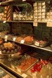 出售界面的糖煮的栗子果子 免版税库存照片