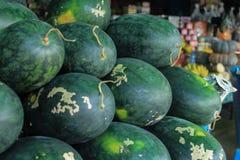 出售的西瓜 免版税库存照片