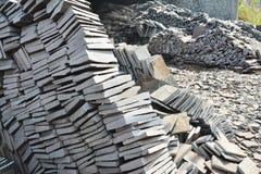 出售的页岩石头 库存图片