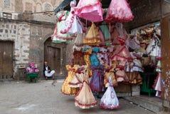 出售礼服在也门 库存照片