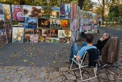出售绘画在克拉科夫 库存照片