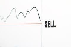 出售股票 库存照片
